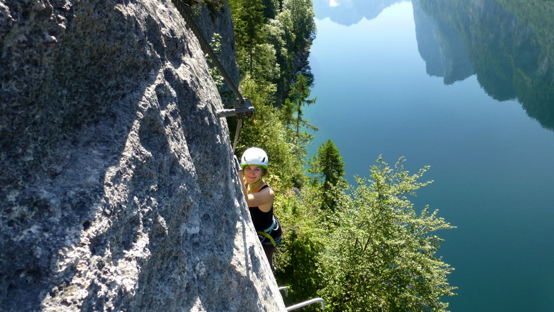 Klettersteig Gosausee : Laserer alpin klettersteig c gosau oÖ youtube