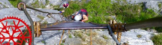 Klettersteig – Via dell' Amicizia – C – (Gardasee)